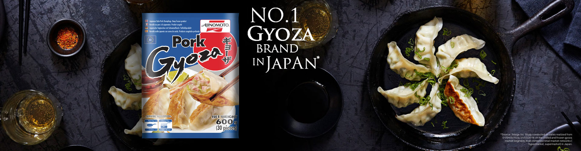Ajinomoto Gyoza, No.1 Gyoza Brand in Japan